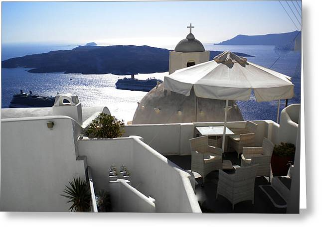 Oceon Greeting Cards - Early Morning View  Greeting Card by Colette V Hera  Guggenheim