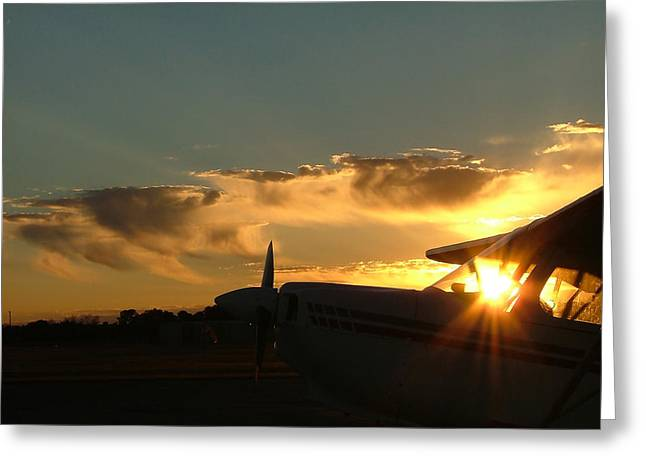Tail-draggers Greeting Cards - Early Morning VIrga Greeting Card by Phil Rispin