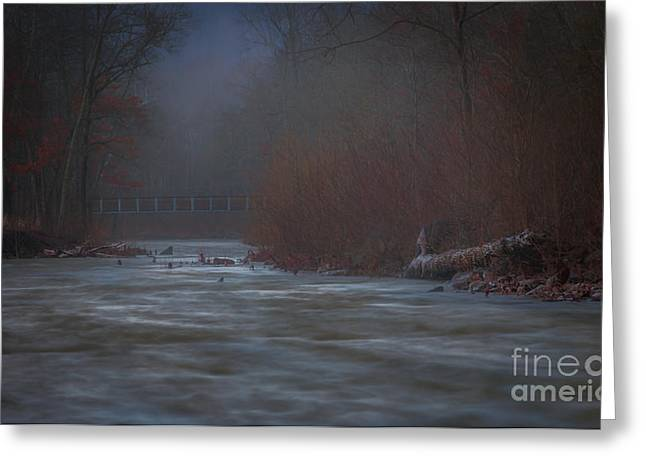 Devils Den Greeting Cards - Early Morning Winter Greeting Card by Larry McMahon