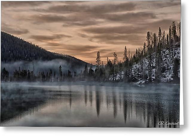 Courson Greeting Cards - Early Morning Yellowstone Greeting Card by CR  Courson