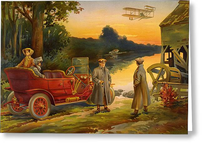 Best Sellers -  - Ford Model T Car Greeting Cards - Early Motoring Print Greeting Card by Big 88 Artworks