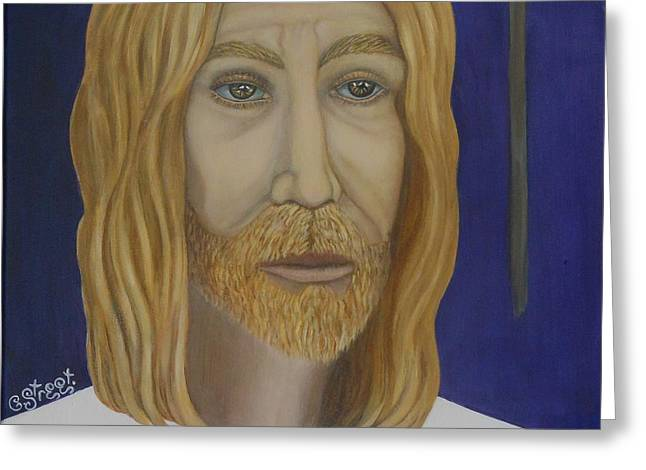 Early Perception Of Jesus. Greeting Card by Caroline Street