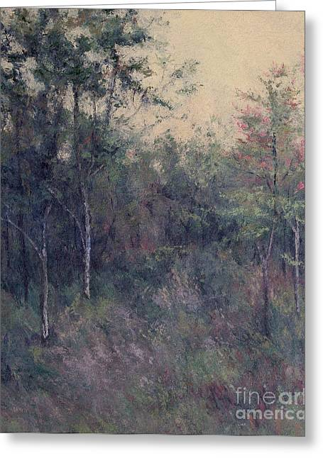 Gregory Arnett Paintings Greeting Cards - Early September Dusk Greeting Card by Gregory Arnett