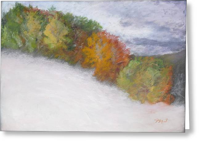 Snowed Trees Pastels Greeting Cards - Early Snow Greeting Card by Marilyn Mull
