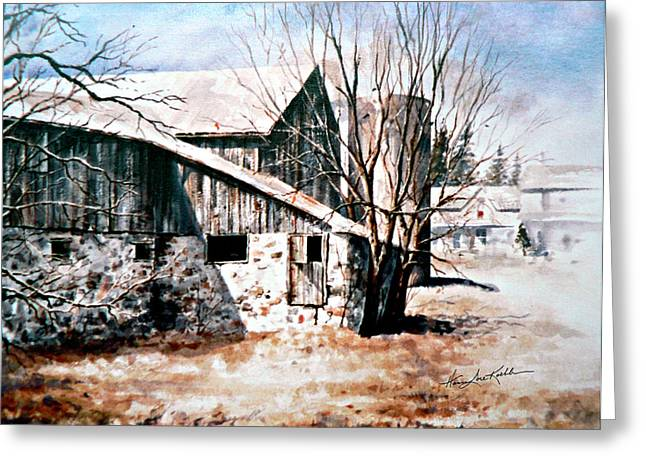 Barn Door Greeting Cards - Early Spring Greeting Card by Hanne Lore Koehler
