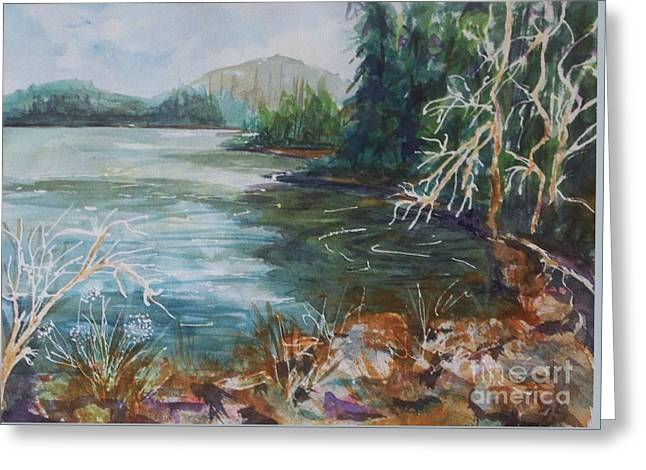 Scenic Greeting Cards - Early Spring Hike at North-South Lake Greeting Card by Ellen Levinson