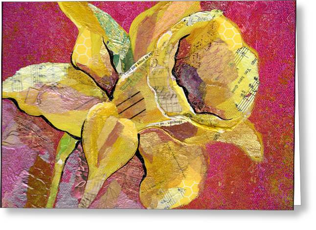 Orchid Greeting Cards - Early Spring I Daffodil Series Greeting Card by Shadia Zayed
