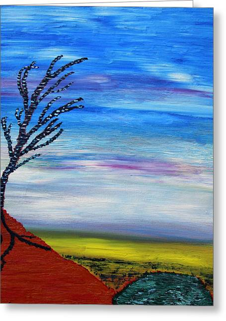Tree Roots Paintings Greeting Cards - Early Spring in the Air Greeting Card by Vadim Levin