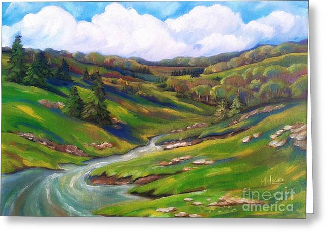 Arkansas Paintings Greeting Cards - Early Spring In The Foothills 1 Greeting Card by MarLa Hoover