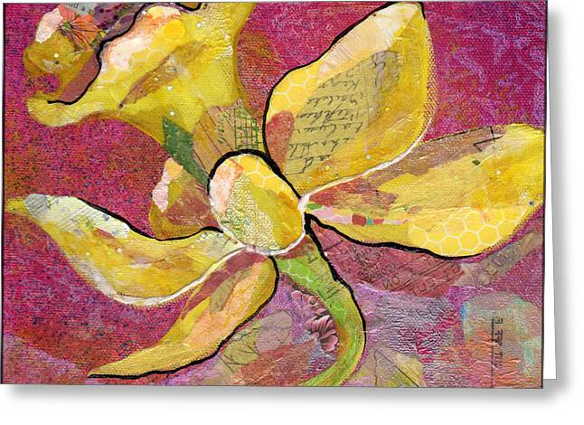 Daffodil Greeting Cards - Early Spring IV Daffodil Series Greeting Card by Shadia Zayed