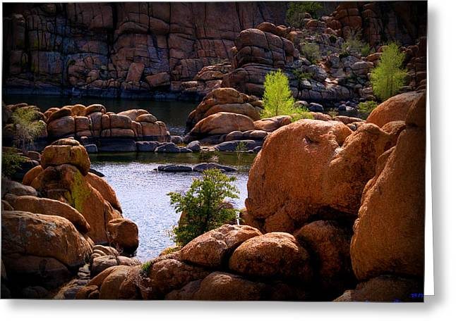 Watson Lake Greeting Cards - Early Spring on the Lake Greeting Card by Aaron Burrows