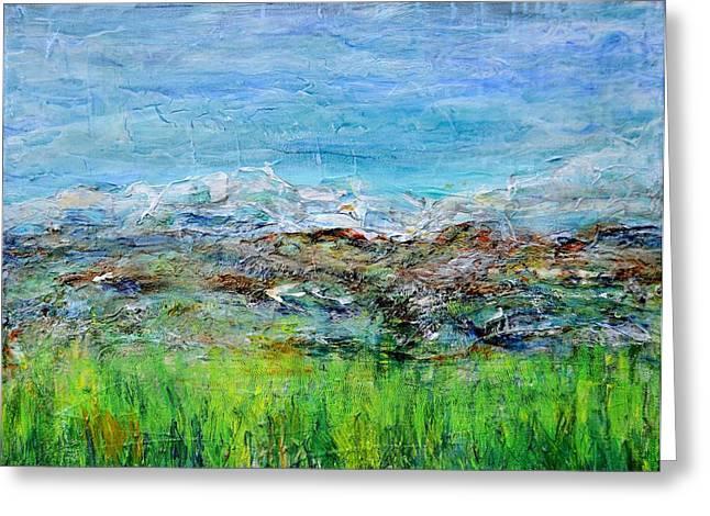 Spring Greening Greeting Cards - Early Spring Range Greeting Card by Regina Valluzzi