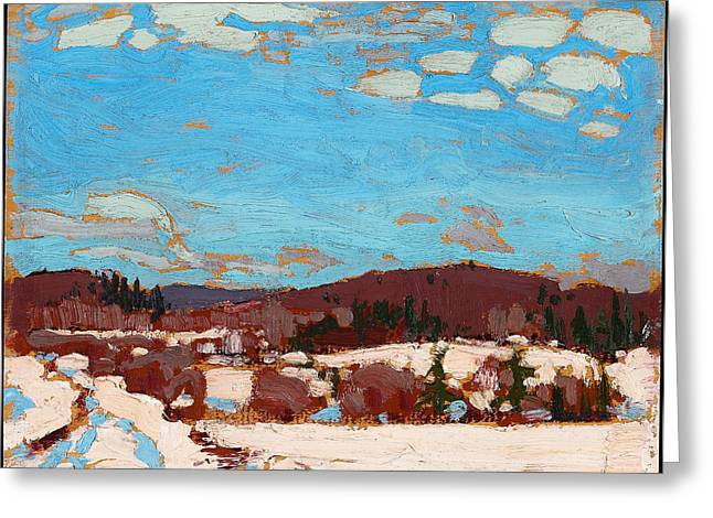 Early Spring Paintings Greeting Cards - Early Spring Greeting Card by Tom Thomson