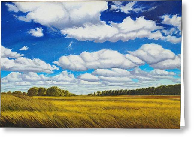 Recently Sold -  - Field. Cloud Greeting Cards - Early Summer Clouds Greeting Card by Leonard Heid