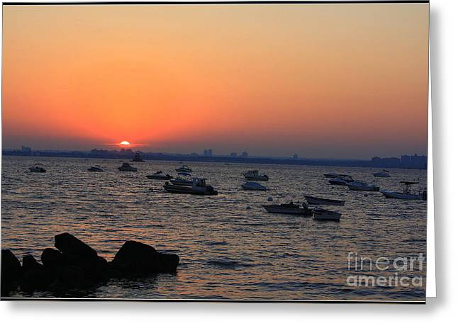 Foggy Beach Greeting Cards - Early Summer Sunset Greeting Card by  Photographic Art and Design by Dora Sofia Caputo