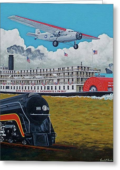 Ford Trimotor Greeting Cards - Early Transportation Greeting Card by Frank Hunter