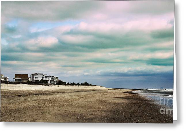 Ocean Art. Beach Decor Greeting Cards - Early Morning Townsends Inlet  Cape May Greeting Card by Tom Gari Gallery-Three-Photography