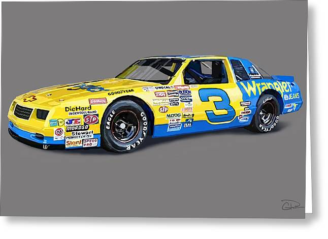 Earnhardt Digital Greeting Cards - Earnhardt 86 Greeting Card by Charley Pallos