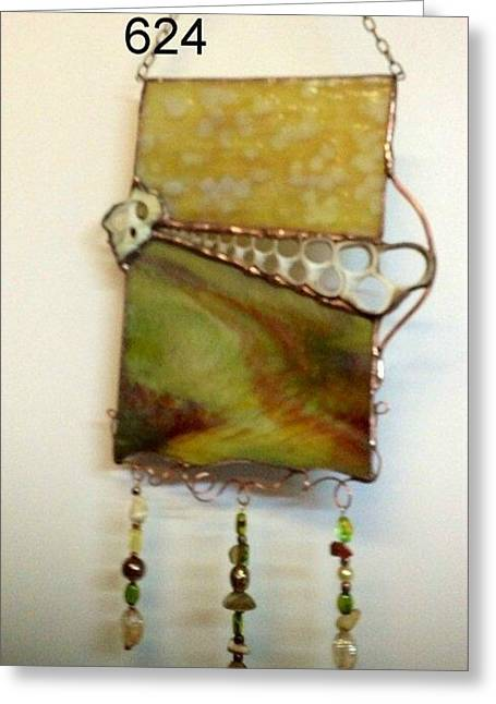 Glass Beads Glass Art Greeting Cards - Earth #2 Greeting Card by Nora Solomon