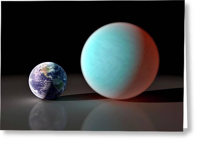 Earth And 55 Cancri Greeting Card by Nasa/jpl-caltech/r. Hurt (ssc)