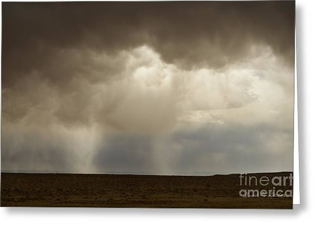 Chromatic Greeting Cards - Earth and Clouds New Mexico Greeting Card by Dave Gordon