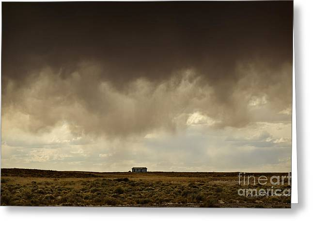 Earth And Clouds New Mexico II Greeting Card by Dave Gordon