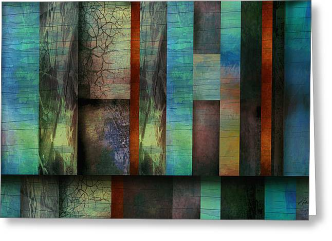 Earth And Sky  Abstract Art  Greeting Card by Ann Powell