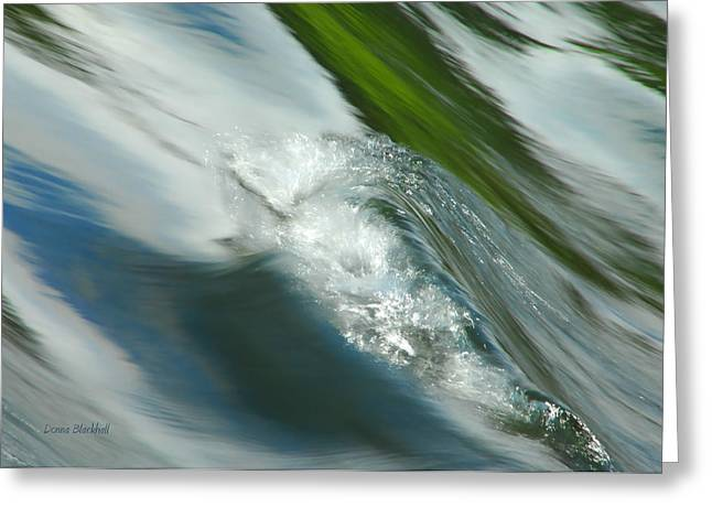 Water Flowing Greeting Cards - Earth And Sky Collide Greeting Card by Donna Blackhall