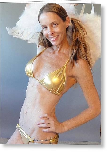 Loving Self Greeting Cards - Earth Angel Greeting Card by Lisa Piper Menkin Stegeman