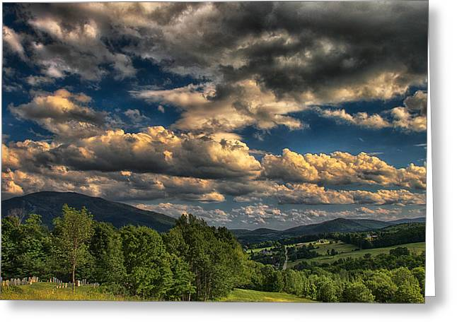 Graveyard Road Greeting Cards - Earth Bending at Mt. Ascutney Greeting Card by Nathan Larson