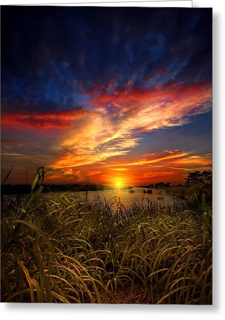 Earth Day Sunset Greeting Card by Mark Andrew Thomas