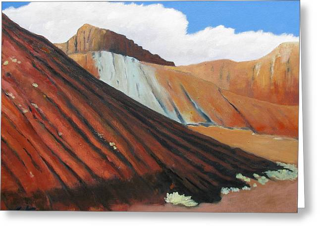 Errosion Greeting Cards - Earth in New Mexico Greeting Card by Gary Coleman