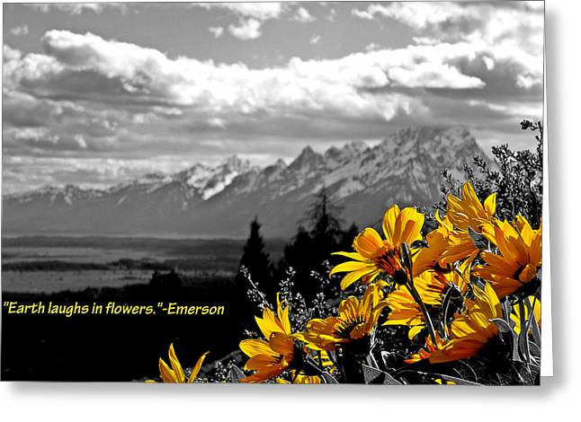 Earth laughs in flowers Greeting Card by Dan Sproul