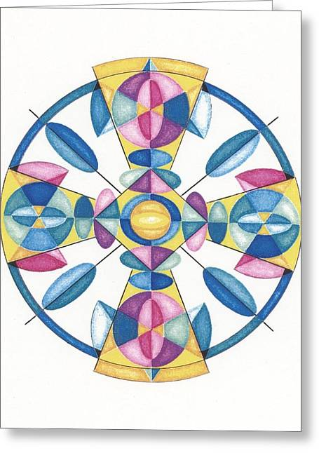 Sacred Drawings Greeting Cards - Earth Light Matrix Greeting Card by Ruthie Ferrone