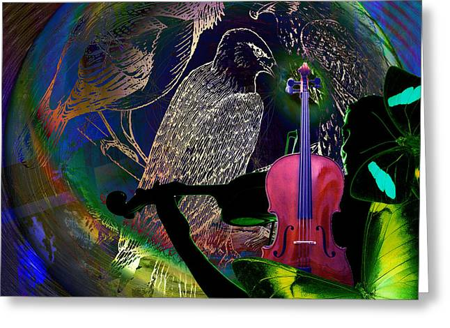 Co2 Digital Greeting Cards - Earth Melody Greeting Card by Joseph Mosley