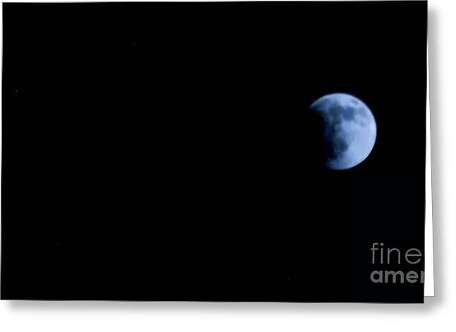 Passover Moon Greeting Cards - EaRTH MooNCovER Greeting Card by Angela J Wright