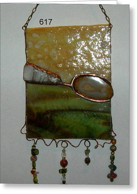 Grass Glass Art Greeting Cards - Earth Greeting Card by Nora Solomon