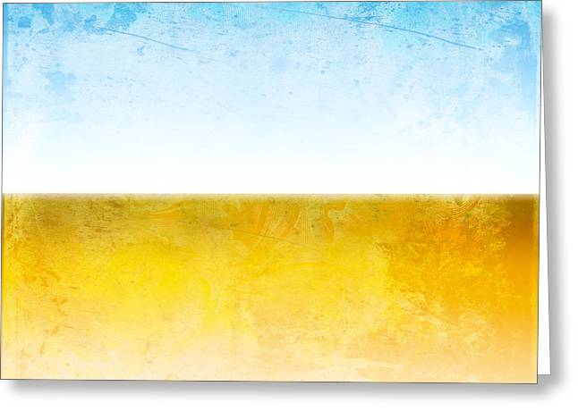 Abstract Digital Art Greeting Cards - Earth Greeting Card by Peter Tellone