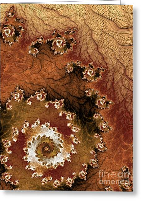 Light Taupe Greeting Cards - Earth Rhythms Greeting Card by Heidi Smith