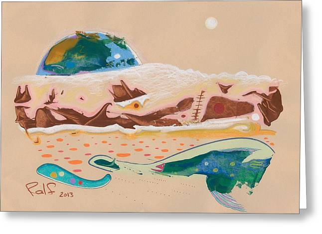 Valuable Drawings Greeting Cards - Earth Rising Greeting Card by Ralf Schulze