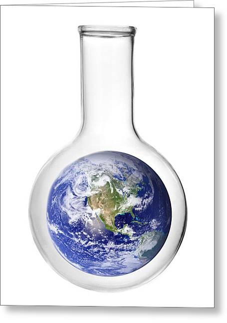 Climate Change Greeting Cards - Earth Science Greeting Card by Jim Hughes