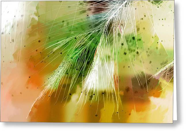 Nature Abstracts Greeting Cards - Earth Silk Greeting Card by Holly Kempe