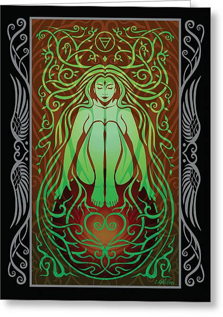 Goddess Greeting Cards - Earth Spirit v.2 Greeting Card by Cristina McAllister