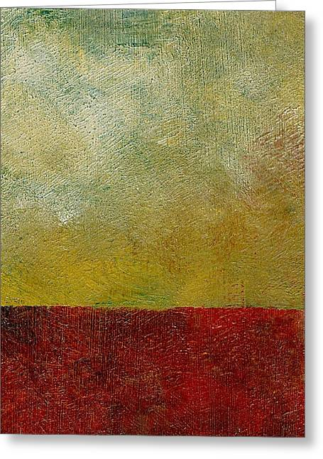 Grungy Paintings Greeting Cards - Earth Study One Greeting Card by Michelle Calkins