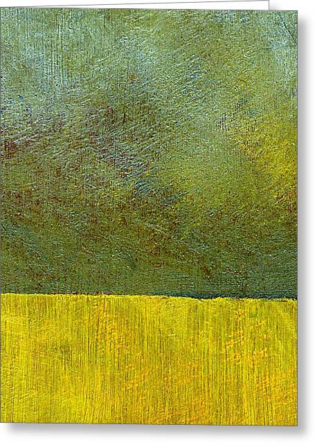 Grungy Paintings Greeting Cards - Earth Study Two Greeting Card by Michelle Calkins