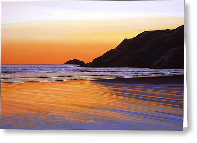 Acryl Greeting Cards - Earth Sunrise Sea Greeting Card by Paul Meijering