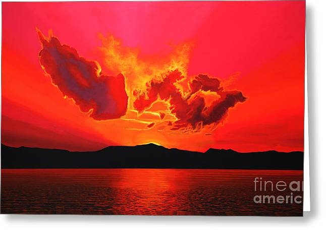 Shadows Greeting Cards - Earth Sunset Greeting Card by Paul  Meijering