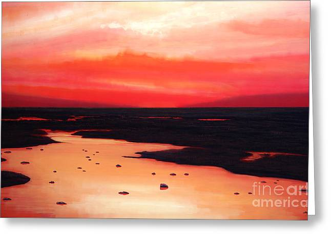Sunset Prints Greeting Cards - Earth Swamp Greeting Card by Paul Meijering