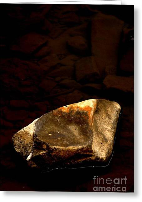 Engraving Greeting Cards - Earth Tones Greeting Card by Marcia Lee Jones