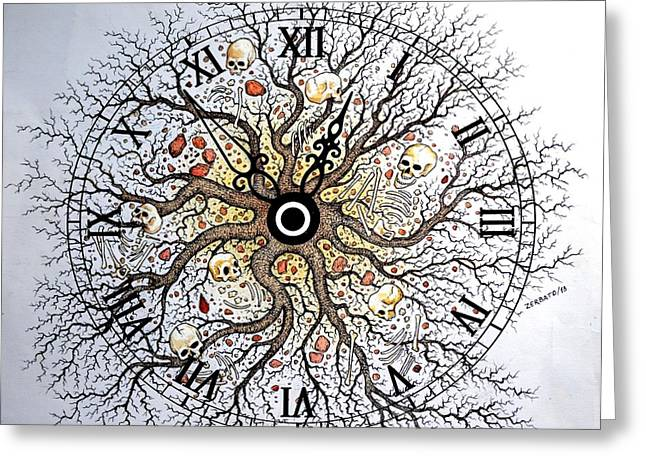 History Of Real Life Greeting Cards - Earth Vision Of An Old Tree Greeting Card by Paulo Zerbato